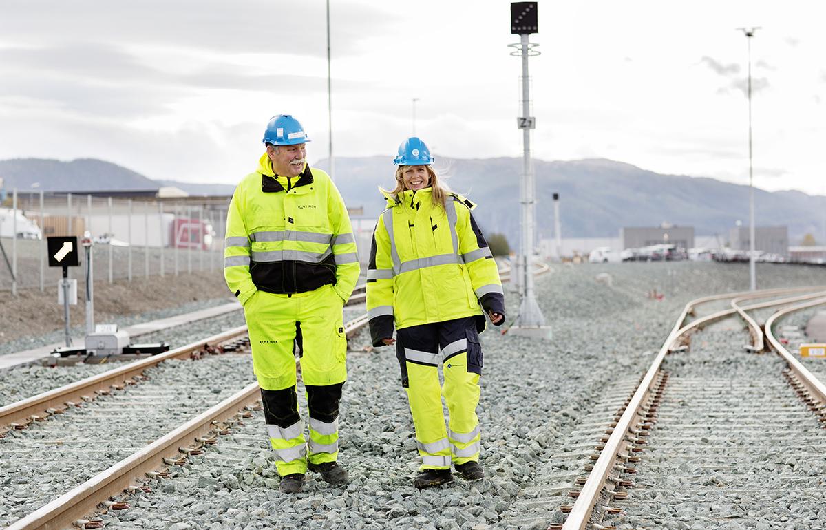Ellen Rindal og byggleder Einar Solem